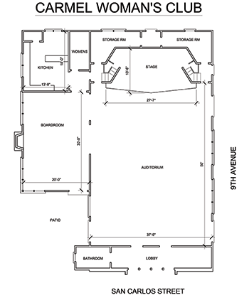 Carmel Woman's Club Floorplan